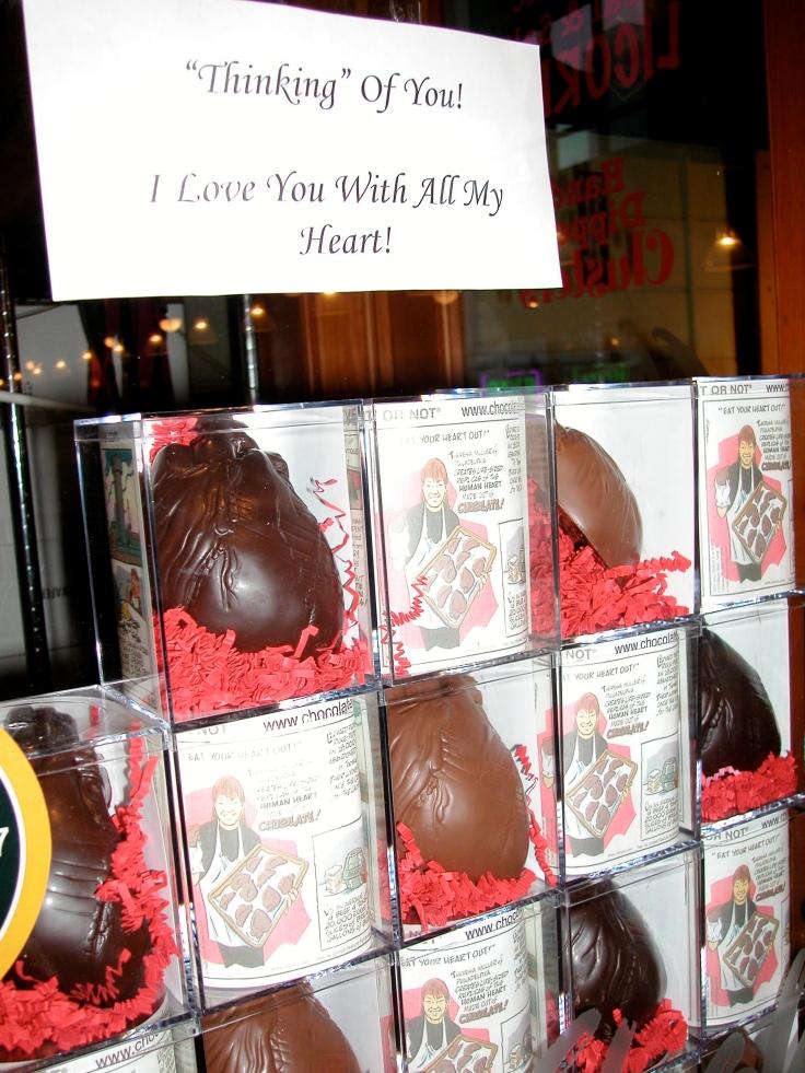 anatomically correct chocolate heart