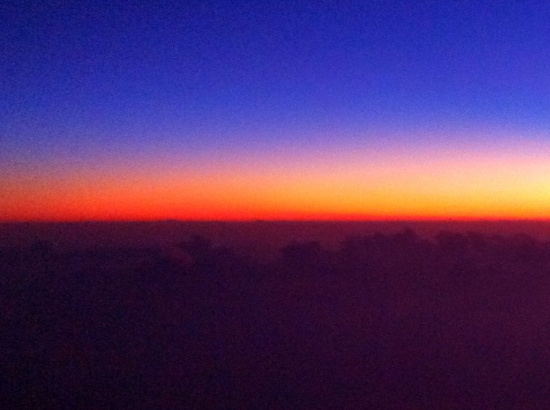 Sunset From a 737