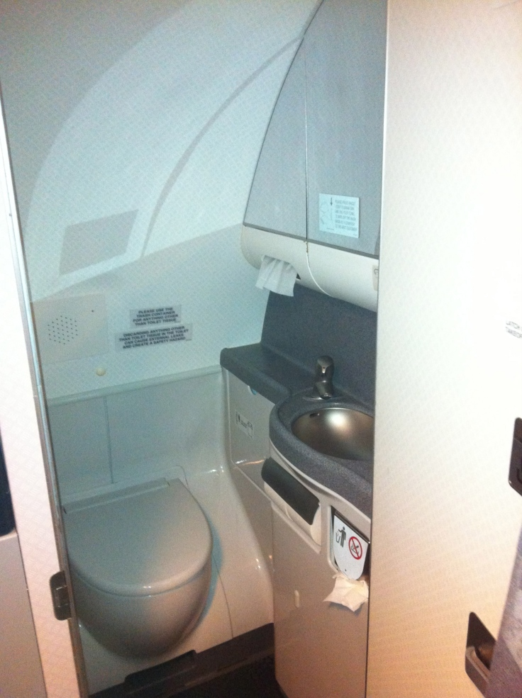 First Class Airplane Lav