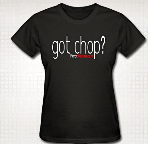 Chop womens tee
